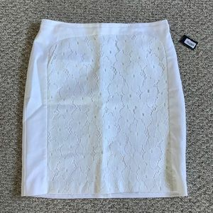 New with tags lace white skirt 14w